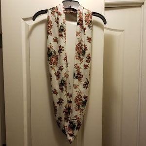Cream skull and flower scarf